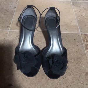 Ann Taylor Satin dress heels
